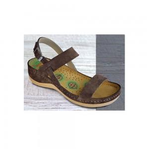 Sandale dama, de vara, din piele intoarsa, Leon 921