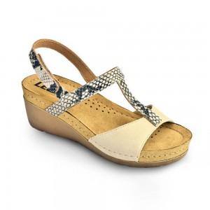 Sandale dama, din piele, de vara, Leon 1061